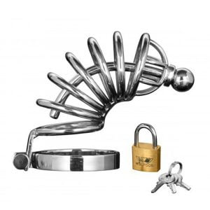 Asylum | 6 Ring Locking Chastity Cage