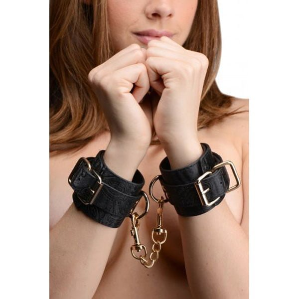 Captured Embroidered Wrist Cuffs- Black