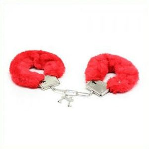 Plus Metal Fluffy Handcuffs Red