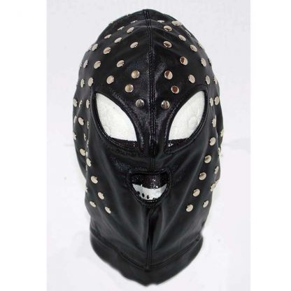 Achilles Extreme Studded Leather BDSM Hood