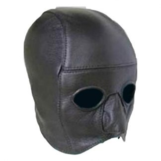 Leather Addicts Bondage Hood with Open Chin Leather