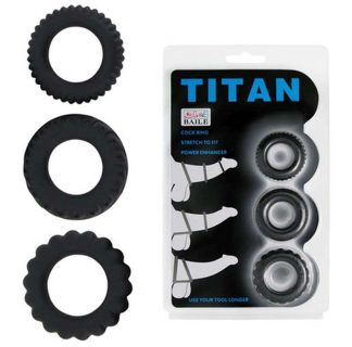 Titan Cock Ring Set 3 Pieces